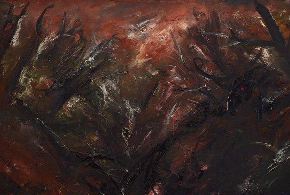 Alternate image of Figure in landscape (Nude washing in a creek III) by Arthur Boyd