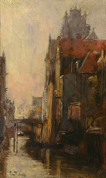 An image of Canal scene by Tom Roberts