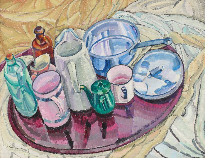 AGNSW collection Grace Cossington Smith Things on an iron tray on the floor (circa 1928) OA9.1967