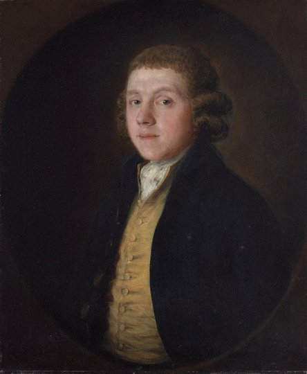 AGNSW collection Thomas Gainsborough Samuel Kilderbee (circa 1758, partially repainted circa 1783) OB3.1967