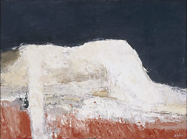 An image of Reclining figure - red and black