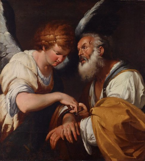 AGNSW collection Bernardo Strozzi The release of St Peter (circa 1635) OO1.1966
