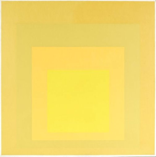 An image of Homage to the square: early fusion by Josef Albers