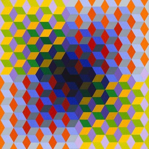 An image of Yon by Victor Vasarely