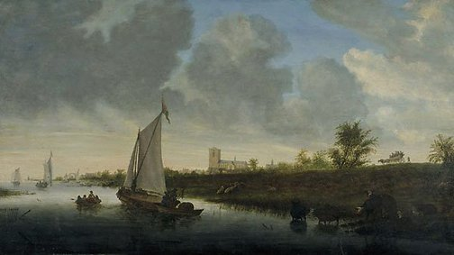 An image of Dutch river scene by School of Salomon van Ruysdael