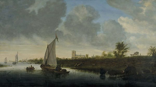 An image of Dutch river scene