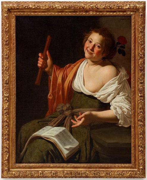 An image of Girl with a flute by Jan van Bijlert