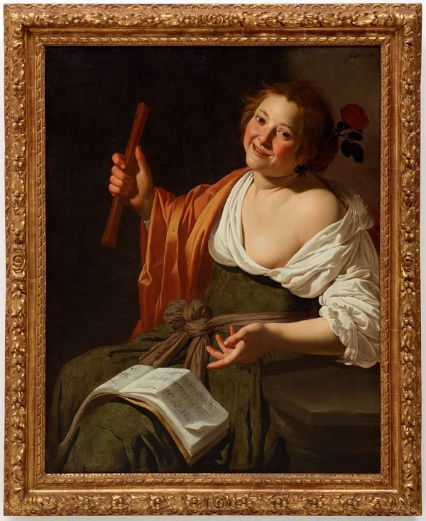 Girl with a flute, (circa 1630) by Jan van Bijlert