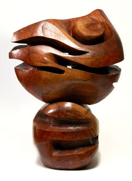 An image of Sculpture in wood by Vincas Jomantas
