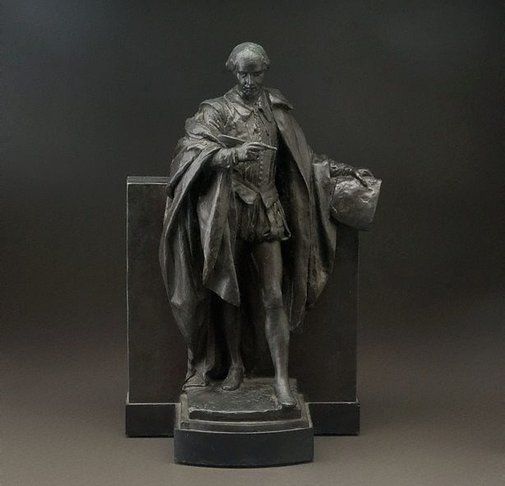 An image of Statuette of Shakespeare by Bertram Mackennal