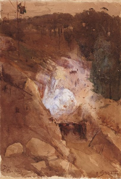 An image of Blue Mountains by Arthur Streeton