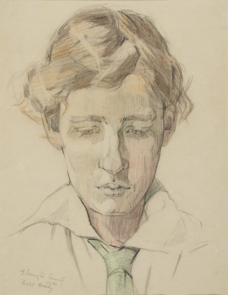 An image of Sister Diddy by Grace Cossington Smith