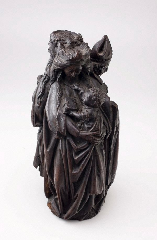 An image of Madonna and Child, Bishop and female saint