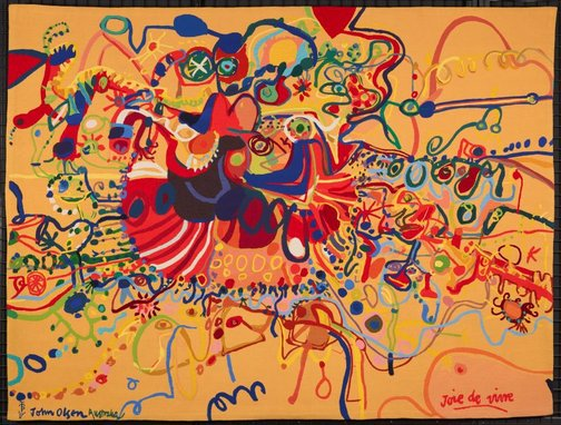 An image of Joie de vivre by John Olsen, Portalegre Tapestry Workshop