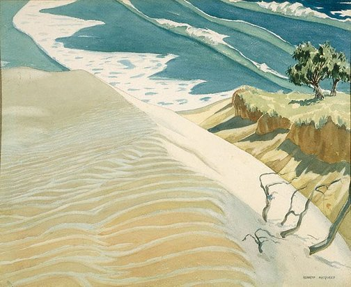 An image of Sandhill and sea by Kenneth Macqueen
