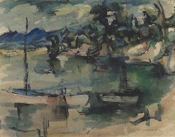 An image of Yachts at anchor