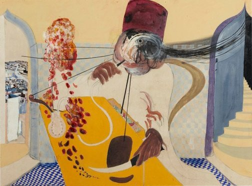 An image of The dealer by Brett Whiteley