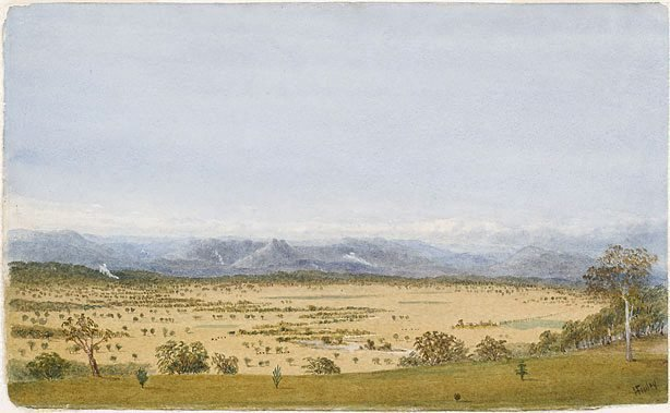 An image of Yarra flats from Christmas Hill, Victoria no. 1