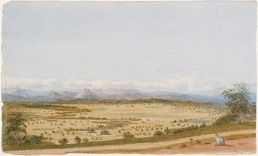 An image of Yarra flats from Christmas Hill, Victoria no. 2 by Hugh Finlay
