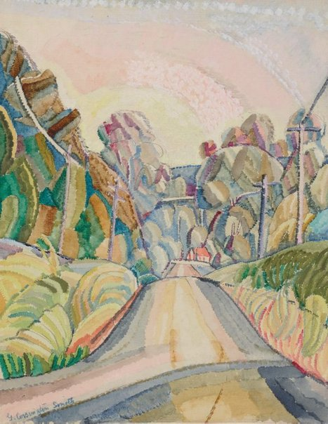An image of Wonga Wonga Street, Turramurra by Grace Cossington Smith