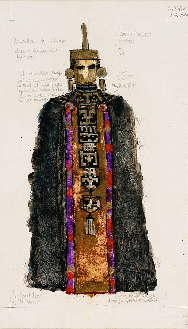 An image of Costume design - Atahuallpa (for 'Royal Hunt of the Sun')