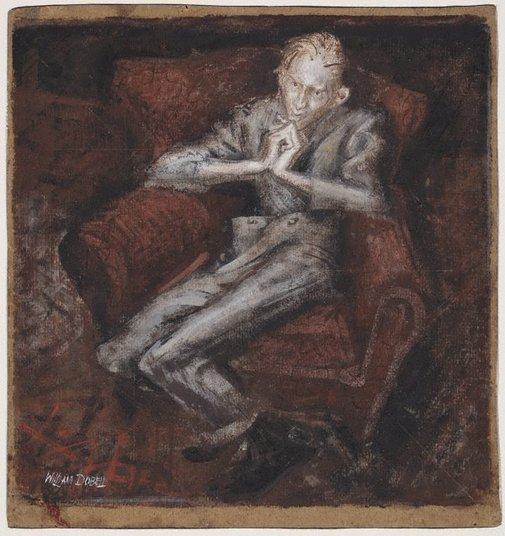 "An image of Study for ""Boy lounging"" by William Dobell"