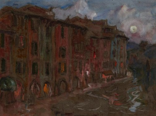 An image of Waterfront, Portofino by John Russell