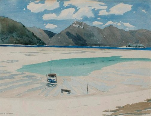 An image of The lagoon, low tide, Hayman by Kenneth Macqueen