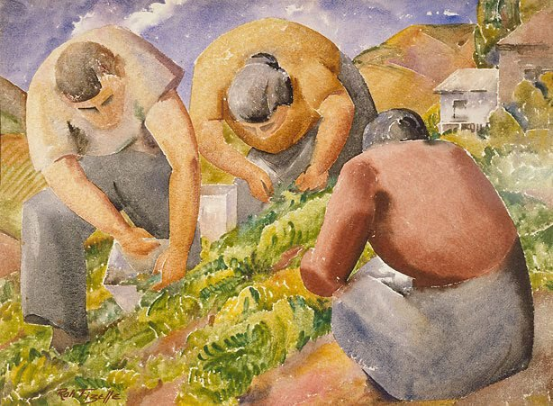 An image of Pea pickers