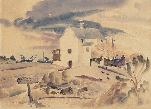 An image of Corkhill's farmhouse by Hector Gilliland