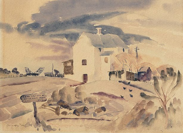 An image of Corkhill's farmhouse