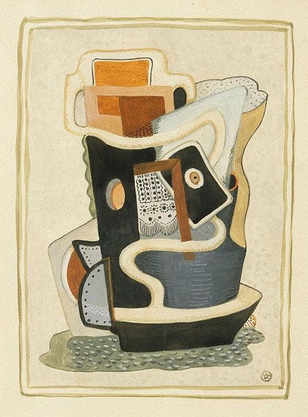 An image of Cubist composition with nautical elements by John Joseph Wardell Power