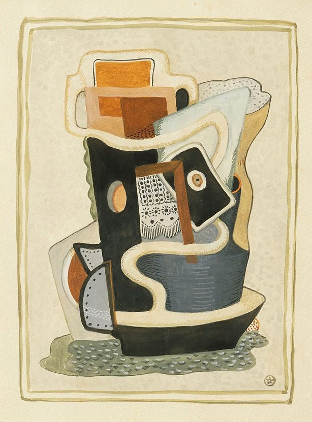 An image of Cubist composition with nautical elements
