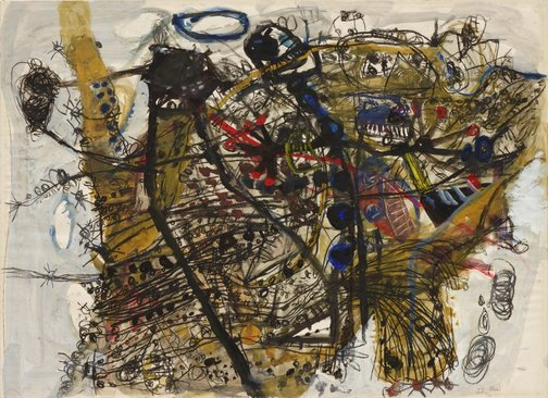An image of Australian flux by John Olsen