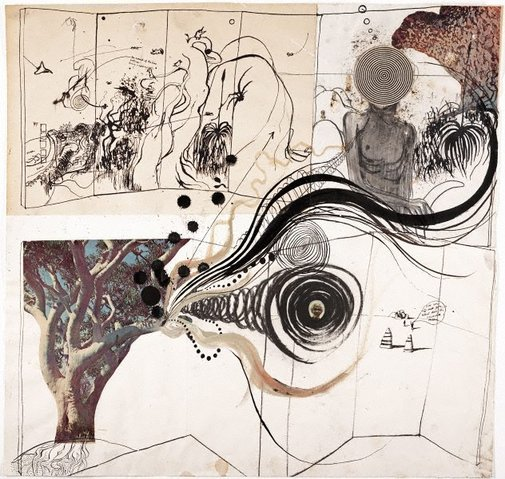 An image of Aboriginal drawing by Brett Whiteley