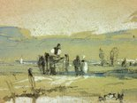 Alternate image of Scene in Normandy (Landscape) by attrib. Richard Parkes Bonington
