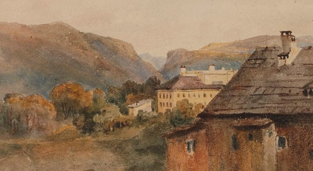 An image of Ischel from inn window