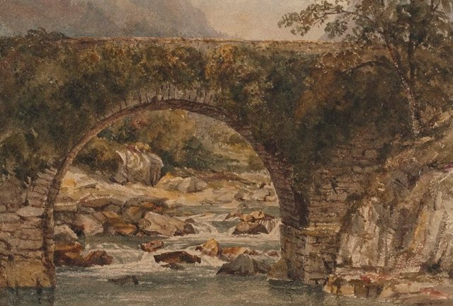 An image of Pont Aberglaslyn, North Wales