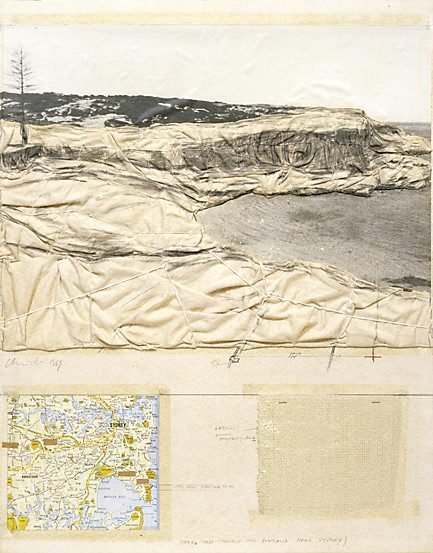 An image of Packed Coast, Project for Australia, near Sydney by Christo