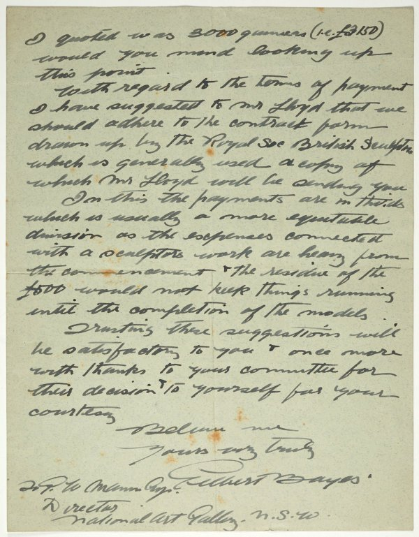 An image of Letter from Gilbert Bayes to Gother Mann