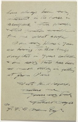 Alternate image of Letter from Gilbert Bayes to Gother Mann by Gilbert Bayes PRBS