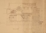 Alternate image of Architectural plan for the portico and vestibule of the National Art Gallery of New South Wales by Walter Vernon