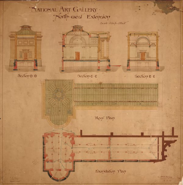 An image of Architectural plan for north-west extension of the National Art Gallery of New South Wales