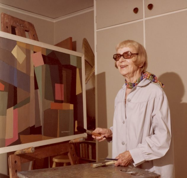 An image of Grace Crowley in her studio