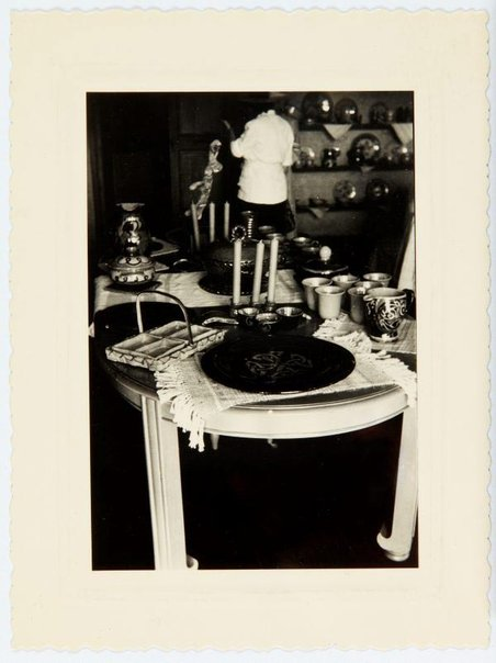 An image of Interior of the dining room at Moly-Sabata by Unknown