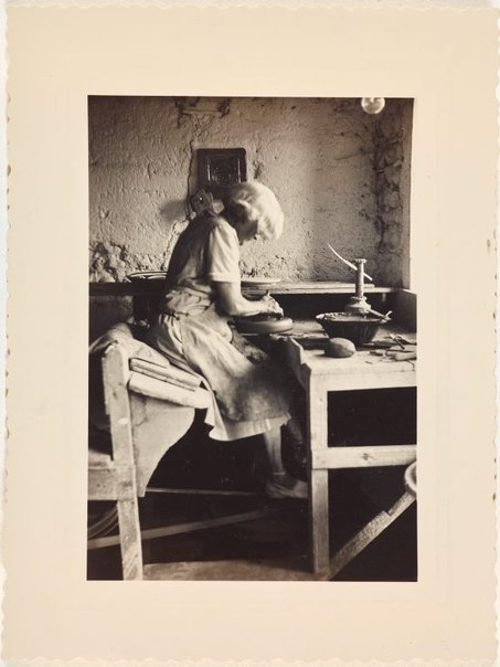 An image of Anne Dangar at work in her studio at Moly-Sabata by Unknown