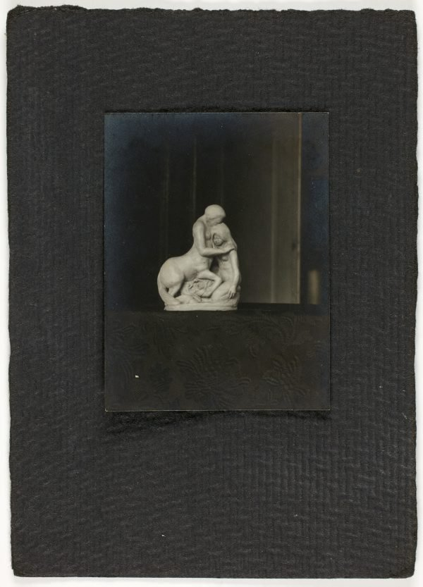 An image of Image of sculpture of a centaur and woman by Eleonore Lange