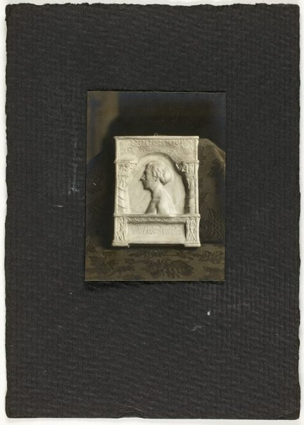 An image of Image of plaster cast of Paula Storr memorial by Eleonore Lange by