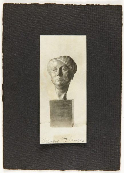 An image of Image of bronze bust of woman by Eleonore Lange by