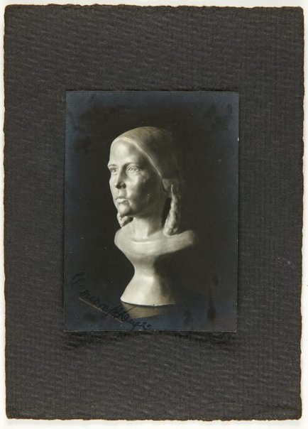 An image of Image of bust of young girl by Eleonore Lange by